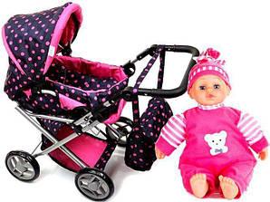 Коляска для куклы,игрушечная коляска КУКЛА принадлежности! В ЦВЕТАХ