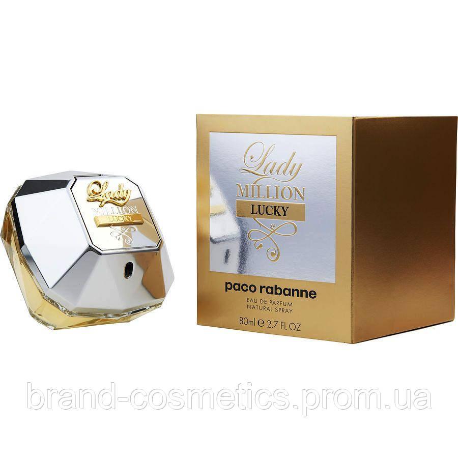 Женская парфюмированная вода Paco Rabanne Lady Million Lucky 80 мл