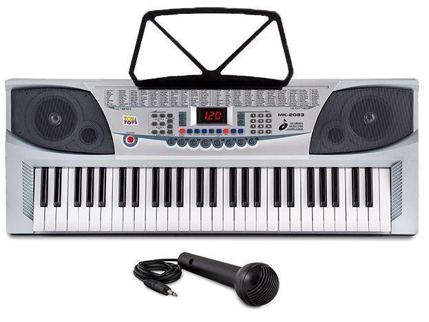 Детский большой синтезатор + микрофон!