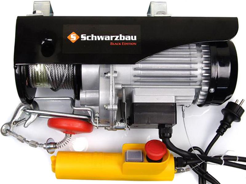 Електрическая лебедка тельфер 800 кг SCHWARZBAU