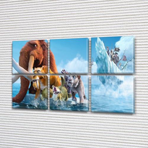 Картина для интерьера детского Ледниковый период, 72x110 см, (35x35-6)