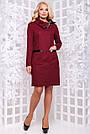 Элегантное платье большого размера марсала ангора с люрексом повседневное, фото 2