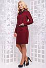 Элегантное платье большого размера марсала ангора с люрексом повседневное, фото 3