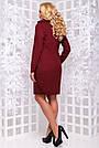 Элегантное платье большого размера марсала ангора с люрексом повседневное, фото 4