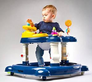 Детские развивающие ходунки,колыбель, джемпер 3в1. В ЦВЕТАХ!