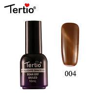 Гель-лак Tertio Metallizzato Кошачий Глаз №004 (коричневый), 10 мл