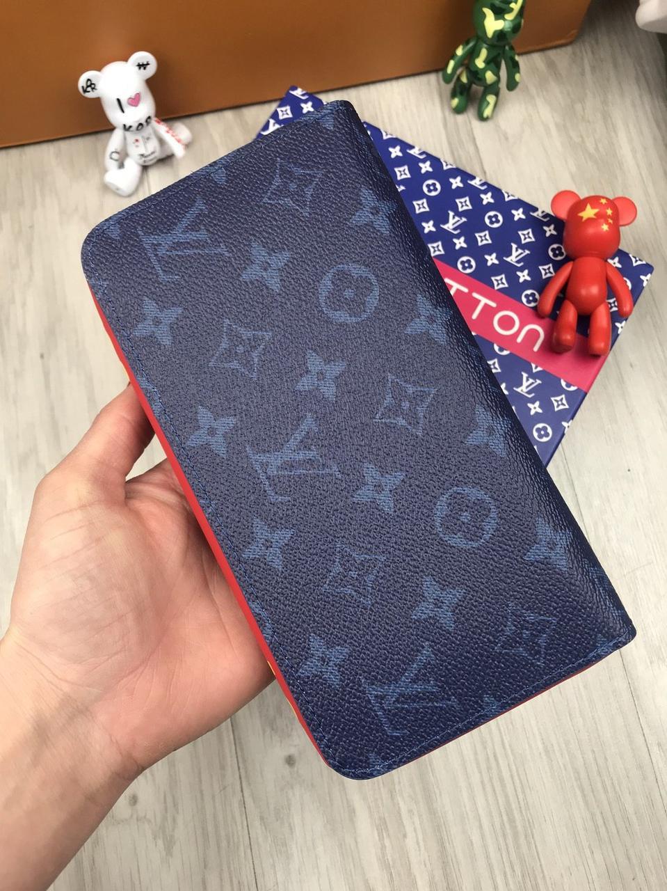 0a3e40557dae Кошелек клатч портмоне бумажник коричневый мужской женский Louis Vuitton  премиум реплика