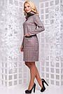 Повседневное платье большого размера из замши коричневая клетка, фото 2