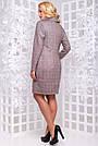 Повседневное платье большого размера из замши коричневая клетка, фото 3