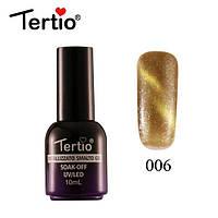 Гель-лак Tertio Metallizzato Кошачий Глаз №006 (светлое золото), 10 мл