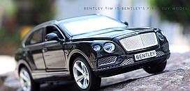Коллекционная машинка Bentley Bentayga черная металлическая модель в масштабе 1:32