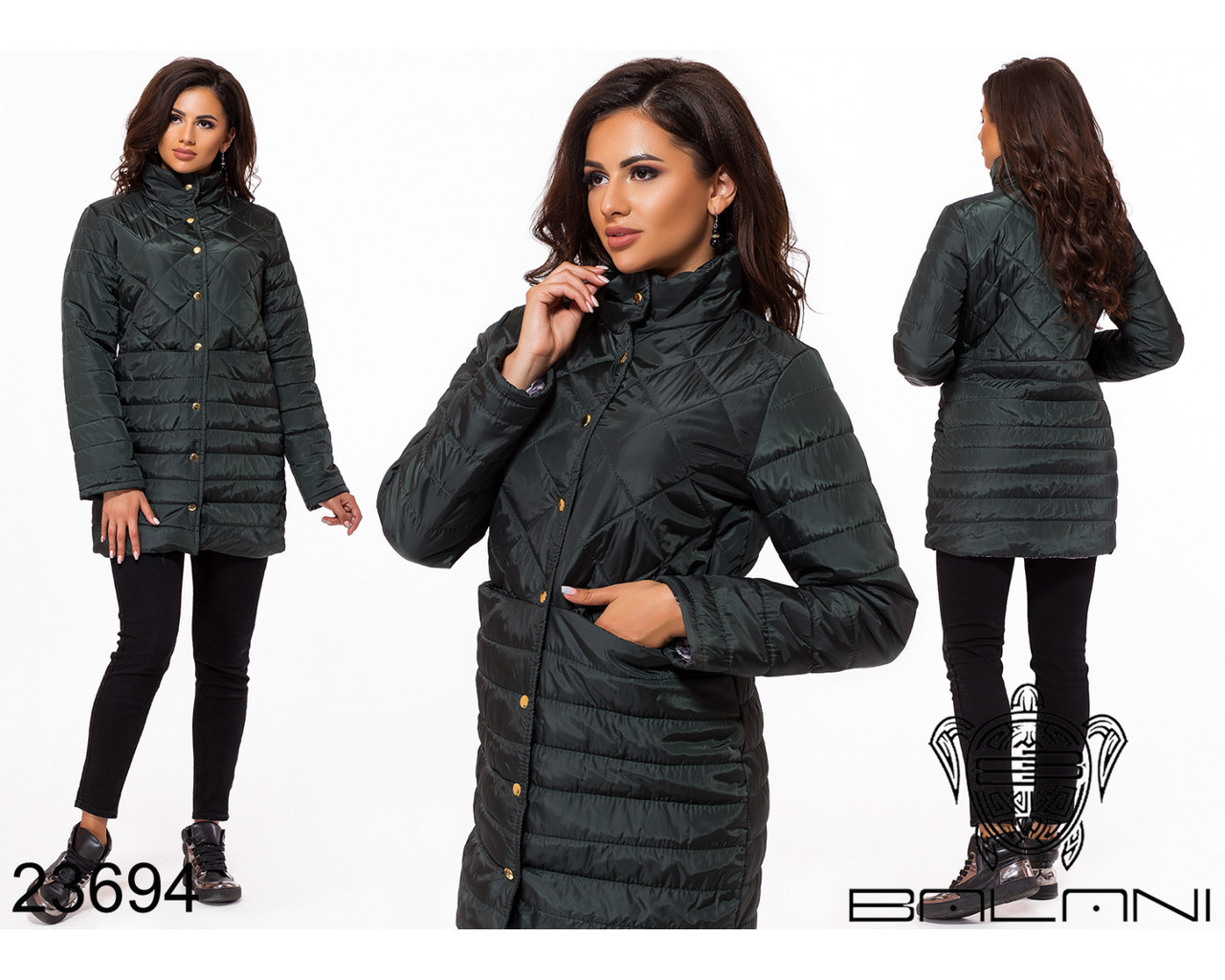 Куртка удлиненная- 23694