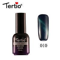 Гель-лак Tertio Metallizzato Кошачий Глаз №010 (синий), 10 мл