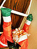 Новогодняя Игрушка Подвесной Santa Claus Декор для Дома Санта Клаус с Мешком Лезет по Лестнице 120 см, фото 6