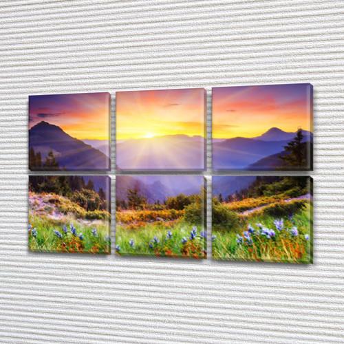 Модульные картины купить украина на Холсте, 72x110 см, (35x35-6)
