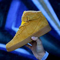 Мужские кроссовки Nike Air Force Winter желтые топ реплика, фото 3
