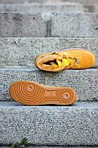 Мужские кроссовки Nike Air Force Winter желтые топ реплика, фото 2