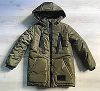 Куртка зимняя хаки на мальчика 122 (6-7лет)