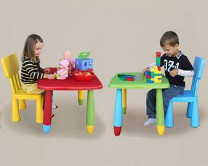 Детский игровой стол + стул. В ЦВЕТАХ!