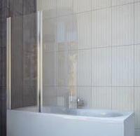 Шторка для ванны koller pool QP95 chrome transparent L, фото 1