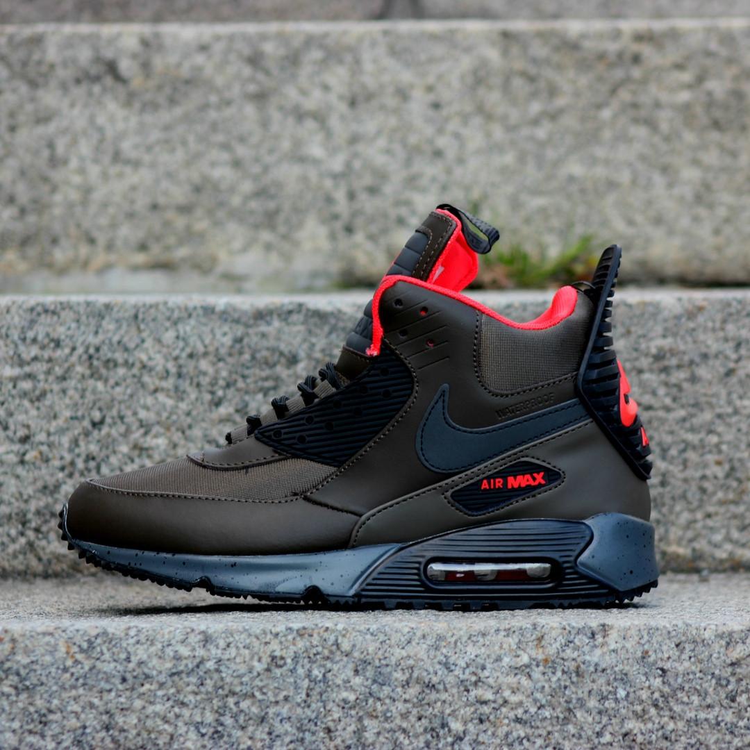 Мужские кроссовки Nike Air Max 90 Sneakerboot Green  Black топ реплика -  Интернет-магазин 54b00caef6b31