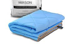 Детское бамбуковое одеяло 110х140 демисезонное в кроватку голубое