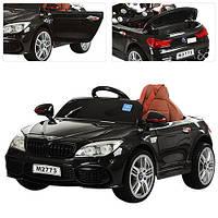 Детский электромобильБМВ 7 серии M 2773 EBLR-2, кожаное сиденье и мягкие колеса