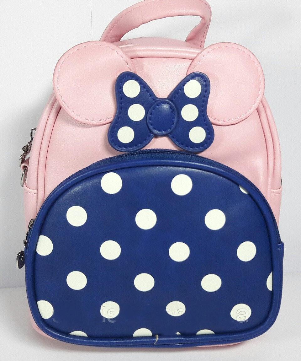 Рюкзак-сумка для дівчинки Міккі шкірозамінник
