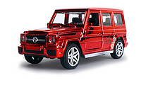 Машинка коллекционная Mercedes G-500 Gelandewagen красная металлическая моделька в масштабе 1:32 , фото 1