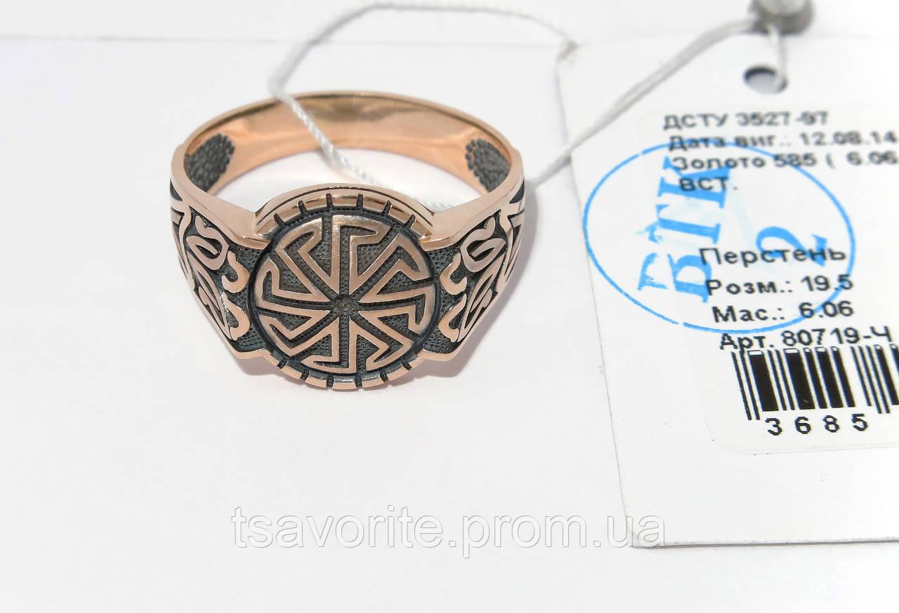 Мужское золотое кольцо 80719-Ч