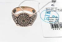 Мужское золотое кольцо 80719-Ч, фото 1