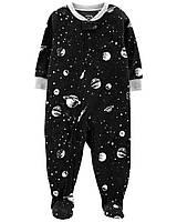 Флисовый человечек - слип с ножками для мальчик, детская пижама
