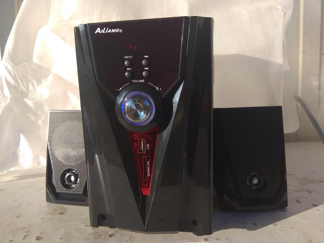 Компьютерные колонки + сабвуфер 2.1 AiLiang USBFM-F35DC-DT
