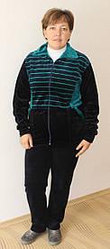 Модный костюм спортивный велюровый большого размера