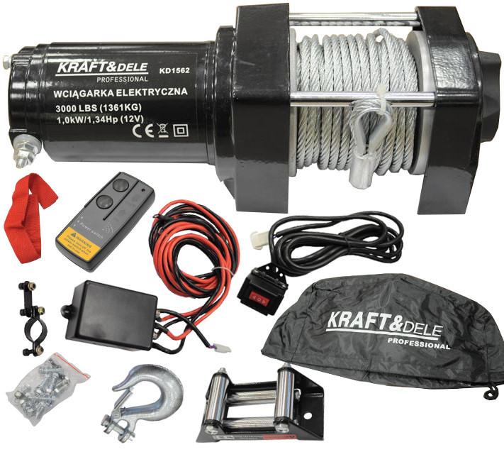 Лебедка электрическая 1360kg 3000LBS 12V