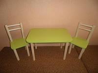 Столик и 2стульчика, Лайм, разная комплектация