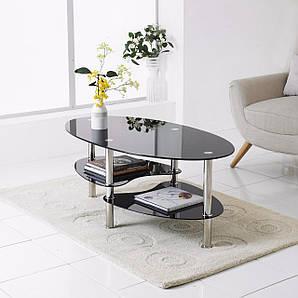 Кофейный столик Clear / Black. white