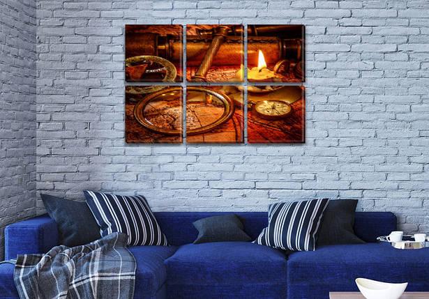 Модульные картины в спальню на Холсте, 72x110 см, (35x35-6), фото 2