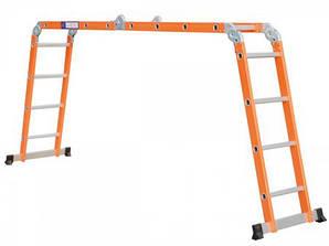 Лестница алюминиевая 4x4 - 4.5M