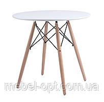 Стол обеденный Redonda (Редонда) белый 80 см, дизайн Charles Eames, стиль лофт, модерн