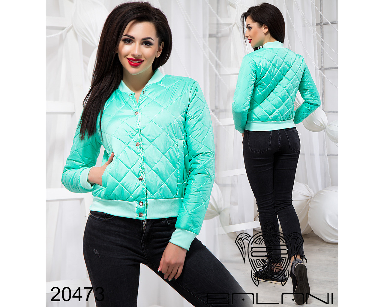 Стильная короткая куртка - 20473