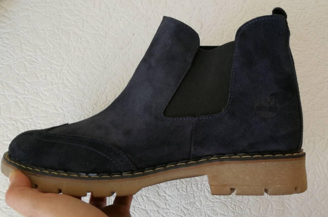 a788ddd94 Оксфорды женские синие ботинки в стиле Timberland натуральная замша весна  осень , фото 2 ...