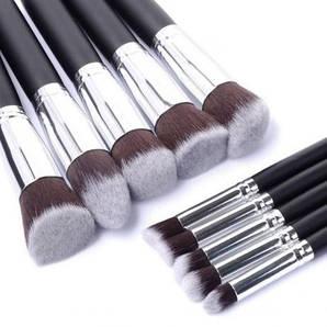 Профессиональные кисточки для макияжа 10 шт