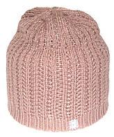 Жіноча зимова шапка. Подвійна в'язання. Кремова.