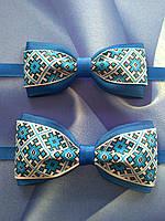 """Комплект """"Батько + син."""" Краватка - метелик з українським орнаментом., фото 1"""