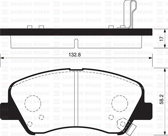 Hi-Q sp1399 Гальмівні колодки (передні) KIA Rio 581011WA05