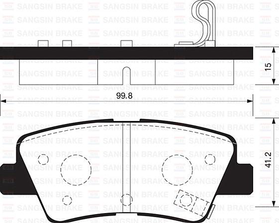 Hi-Q SP1401 Тормозные колодки (задние) HYUNDAI 583022KA10, KIA 583022KA10