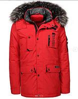 Оригинальная Мужская Парка/Куртка/Аляска Glo-Story MMA-6409 Red Красная