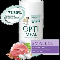 Полнорационный сухой корм Optimeal для взрослых собак малых пород – утка, набор 1.3 кг