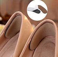 Мягкий аппликатор спонж на задник обуви на клеящейся основе, темно-коричневый цвет, комплект 2 шт.